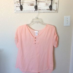 Tops - NWOT Coral Peach Dressy Blouse