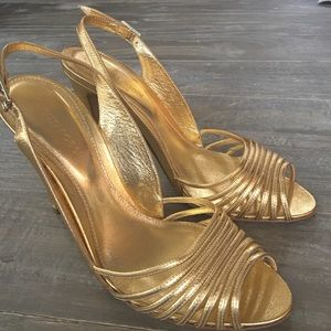Sergio Rossi Shoes - Sergio Rossi Gold Metallic Stilletos