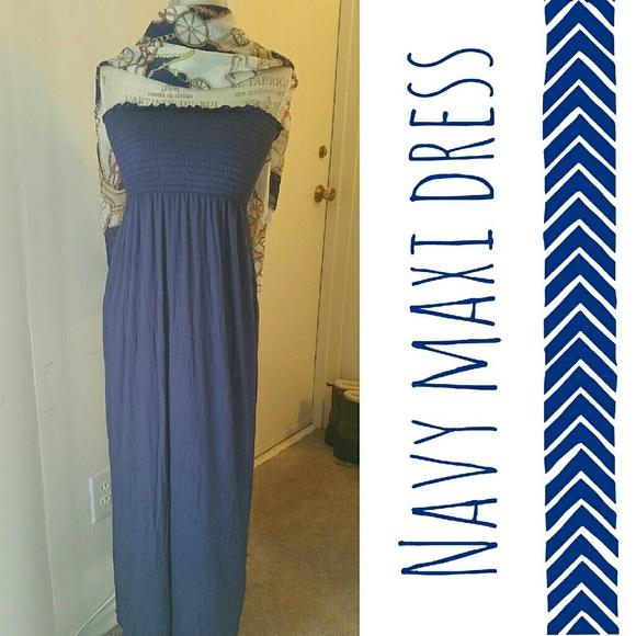 BOGO Style USA Dresses - Light Navy Blue Maxi Dress