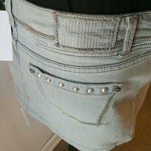Stylebook USA Skirts - |SALE|Light Denim Bling Skirt