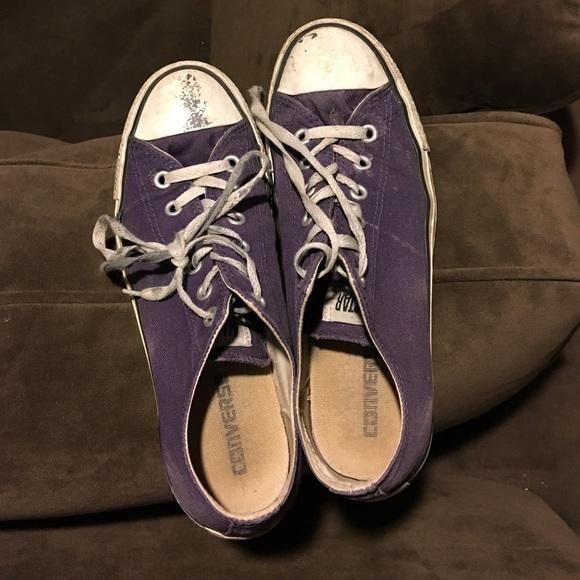 dd88d10c991a Converse Shoes - Purple beat up converse