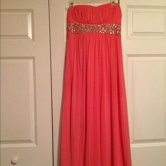 David Bridal Strapless Prom Dresses