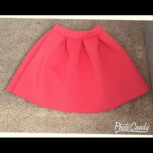 Charlotte Russe Pleated Scuba Skirt