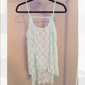 High Low Lace Tank Top