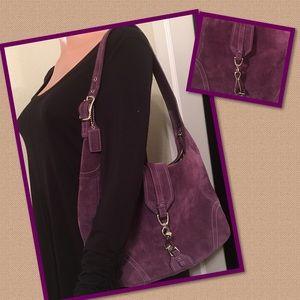 Stunning Purple suede Coach purse