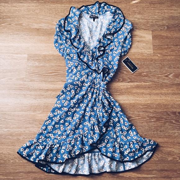 fae6e818cfc0 Juicy Couture Hearts Wrap Dress 0