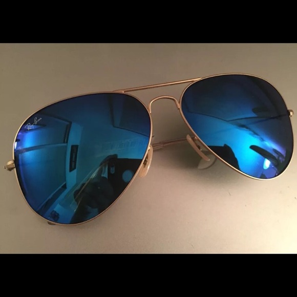gold lens aviators  58% off Ray-Ban Accessories - Ray-Ban Aviator Sunglasses Blue Lens ...