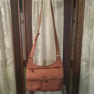 Fossil shoulder Brown leather bag