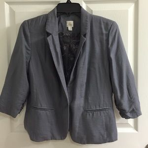 LC by Lauren Conrad relaxed fit 3/4 slv blazer