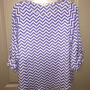 Everly Purple Chevron Shirt