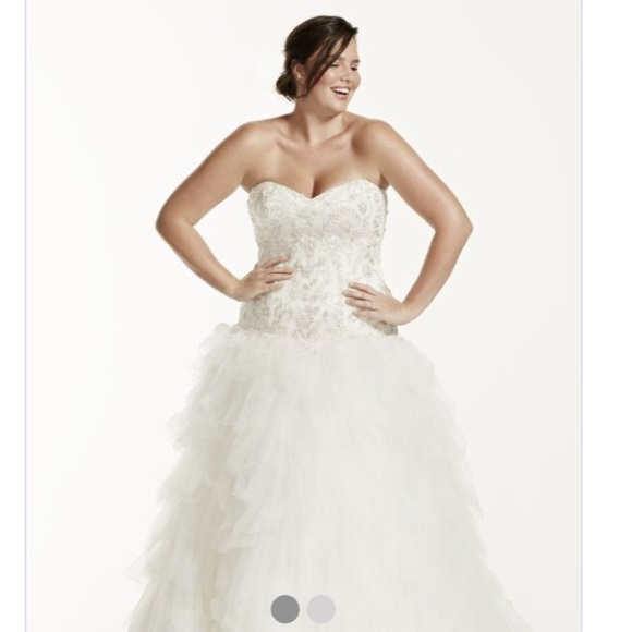 David\'s Bridal Dresses   Davids Bridal Plus Size 18 Wedding Dress ...
