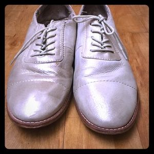 Much loved pair of oxfords