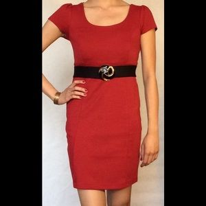 Red Cap Sleeved Dress 💋