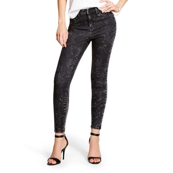 79a75a2e618e2 Black Acid Wash High Rise Stretch Jeggings Jeans. M_56f87e42eaf0308ef8010986