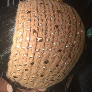 Black rivet Accessories - Dazzling (Black Rivet) wrap around hat
