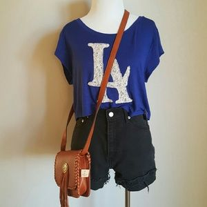 {Xhileration} Royal Blue Crop Top