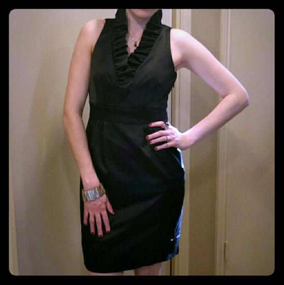 Just Taylor Dresses Little Black Dress With Ruffled Collar Poshmark