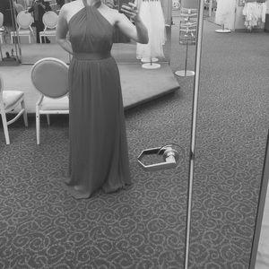 Long Chiffon Halter Dress