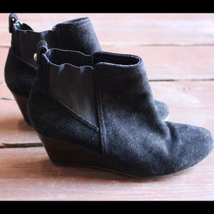 Sole Society Shoes - Black Wedge Booties
