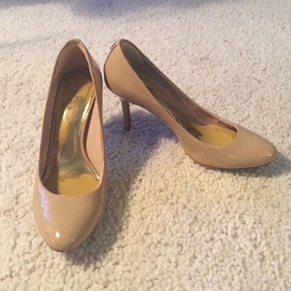 77f3b7a967 Coach Shoes - Coach nude patent leather heels pumps shoes 7
