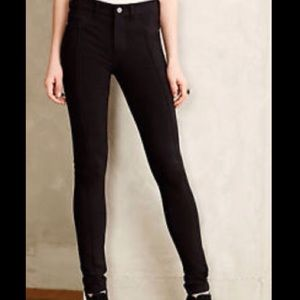 Anthropologie Pants - SOLD Anthropologie Pilcro Serif Black Ponte Pants