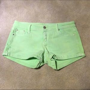 Tractr Pants - Neon Green Tractr Jean Shorts