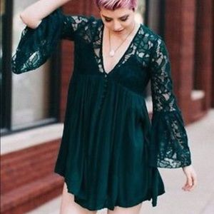 Free people with love from India lace mini dress