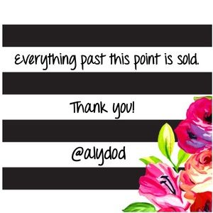 Everything past this point is sold. Thank you!