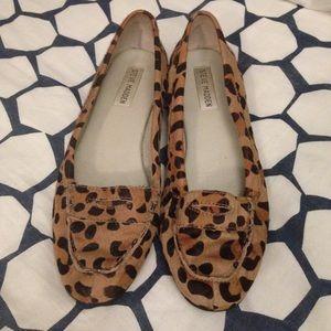 • calf hair cheetah print steve madden flats •