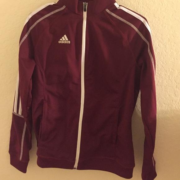 Adidas maroon jacket
