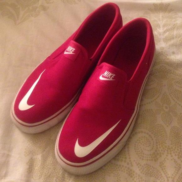 Nike Red Slip Ons