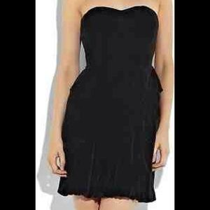 Marc Jacobs Silk Velvet Ruched Corset Dress