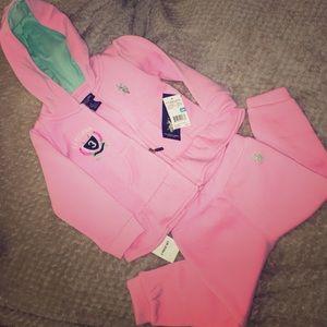 U.S. Polo Assn. Other - 🆕 Kids Polo Assn. Pink & Teal 2Piece Matching Set
