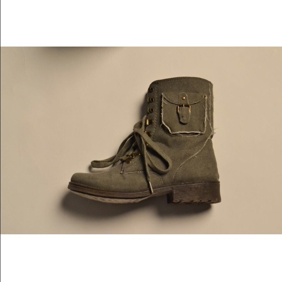 48% off Shoes - Army green combat boots from Charlotte Russe from ...