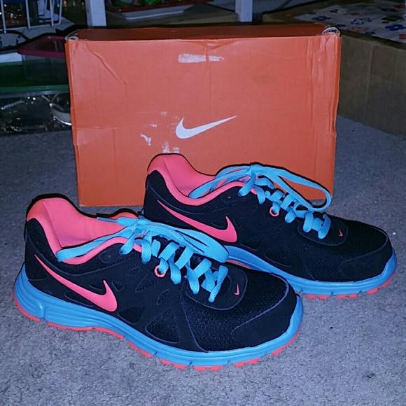 3240b2849b06 Nike revolution 2 pink blue black sneakers 6.5