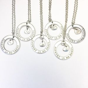 6 Initial Necklaces- Forever In My Heart
