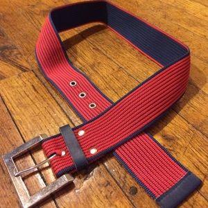Accessories - Vintage navy & red belt