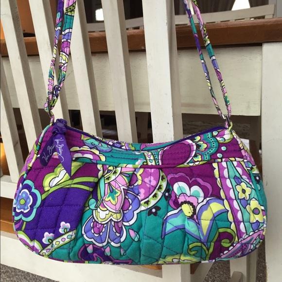 bda5031474 VERA BRADLEY Small Purple Blue Crossbody Purse. M 56f930ca6a583079f0099a70.  Other Bags ...