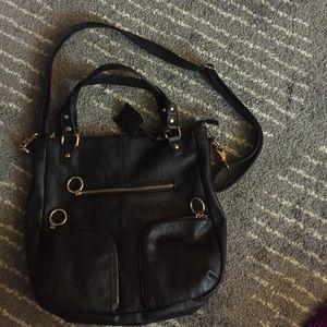 Deena & Oozzy Handbags - Black multi strap bag