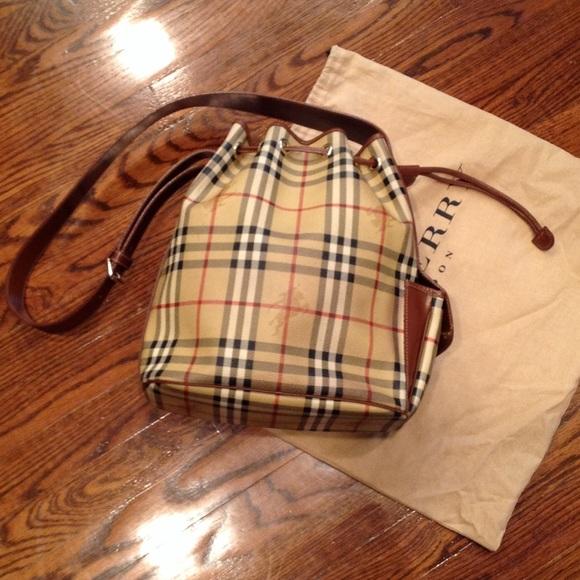 Burberry Bags   Gorgeousunique Drawstring Bucket Bag   Poshmark 3848837197