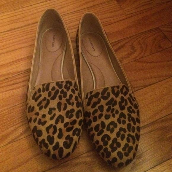 8dff28e8edc Lands  End Shoes - Lands end leopard flats