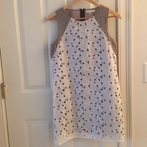 Anthropologie cut out, sleeveless dress.