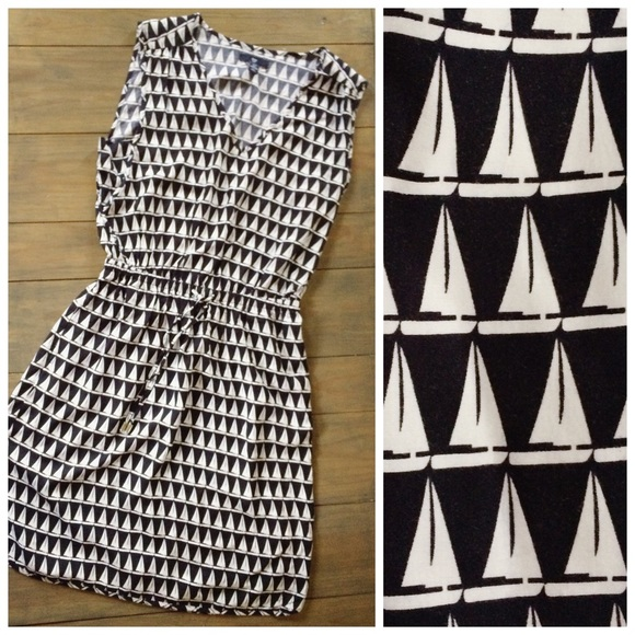 Sailboat images black and white dress
