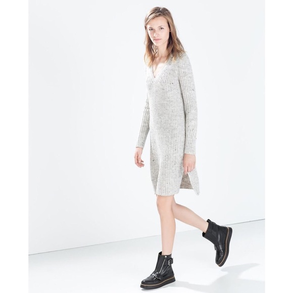 Zara Grey Sweater Dress 104