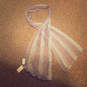 Echo Accessories - NWT Echo light knit scarf! Purple white gray new