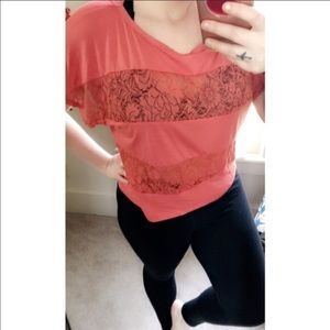 Nicolette Tops - MOVING SALE!!!•Orange Lace top•