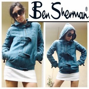 Ben Sherman hooded wool jacket XS