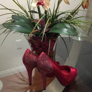 Steve Madden Shoes - Red Rhinestone heels👠