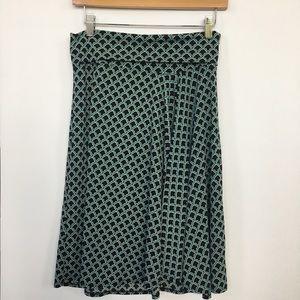 Studio M Dresses & Skirts - StudioM adorable green/black patterned skirt M