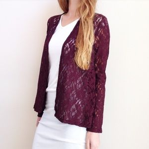 | new | burgundy lace sweater